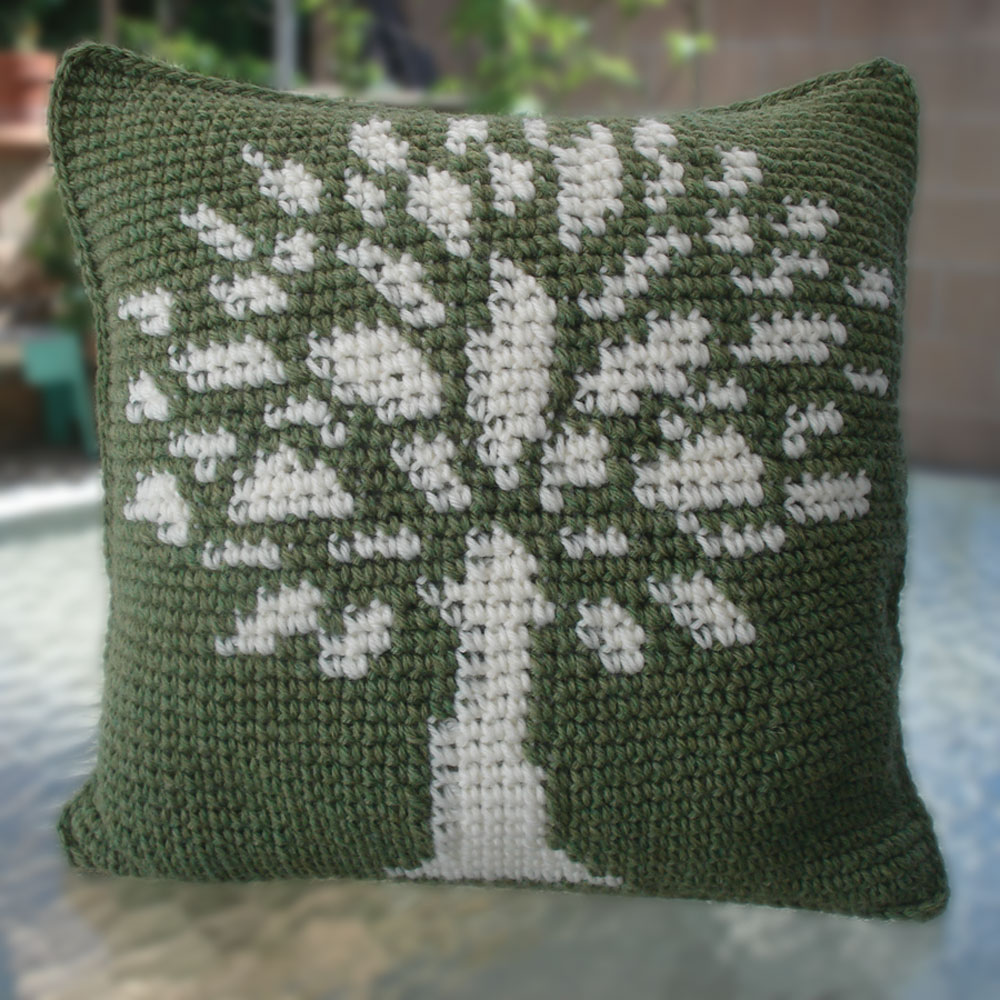 The Knitting Tree Pillow