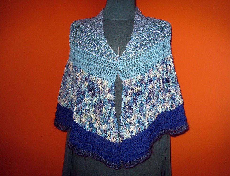 Second Hand Rose Shawl