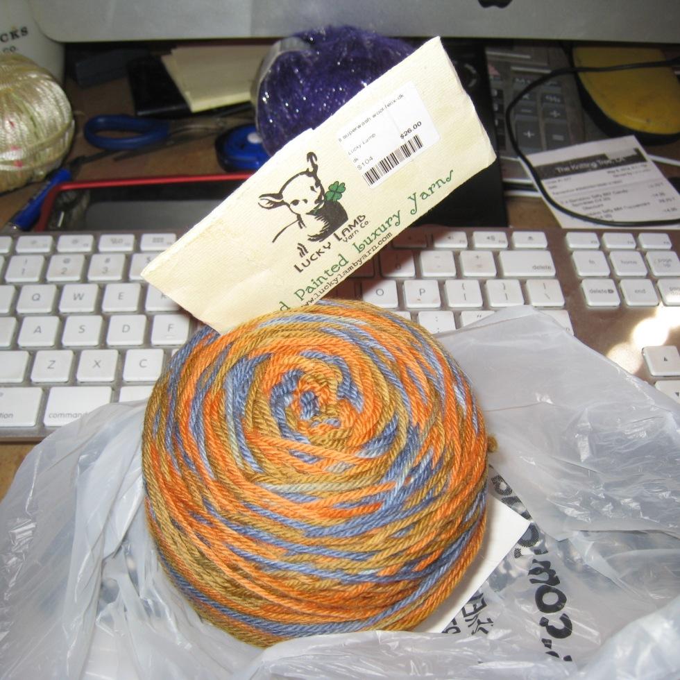 Lucky Lamb Hand Painted Superwash Wool