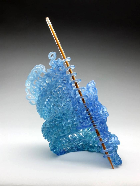 Carol Milne Knits With Glass