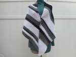 Black and White Shawl