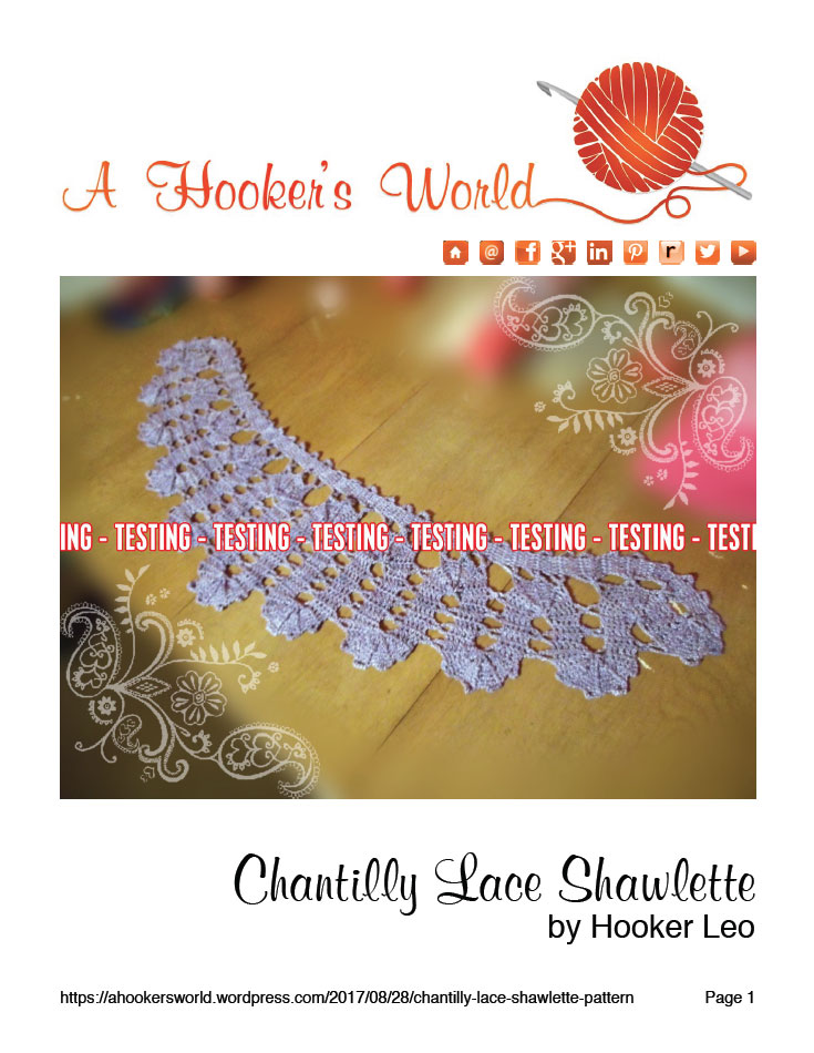 Chantilly Lace Shawlette Testing Pattern