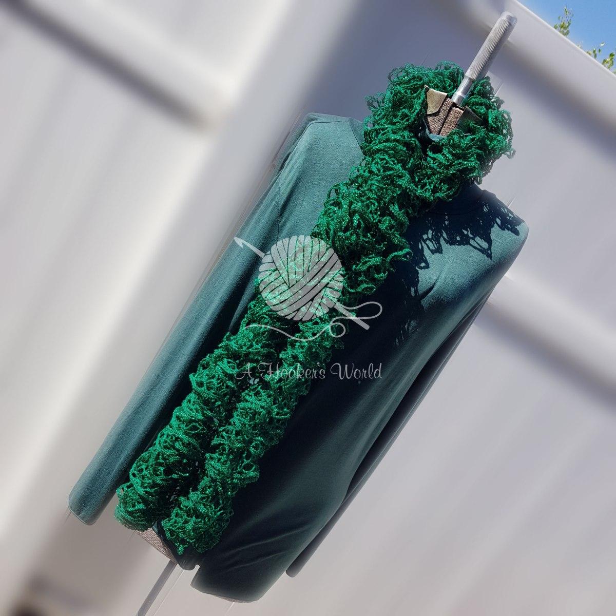 Green Flower StreetScarf