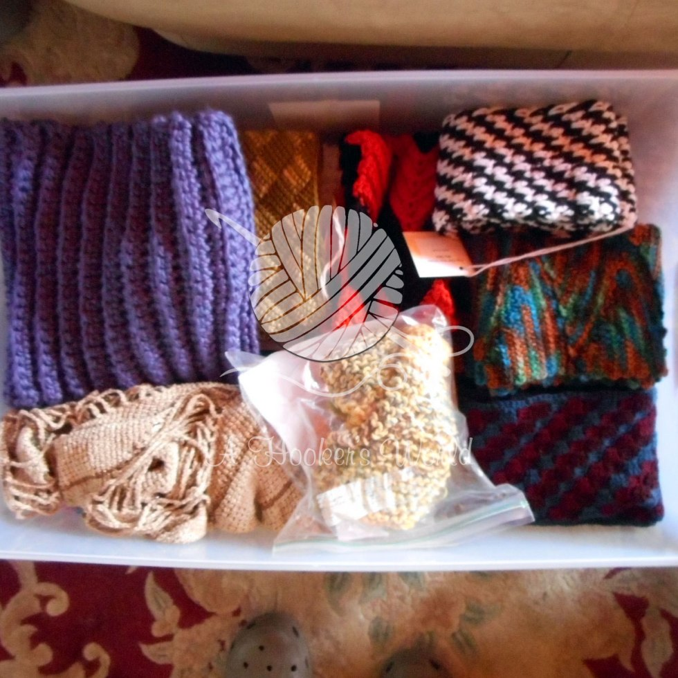 Charity Donations: Scarves, Afghans, Cowls