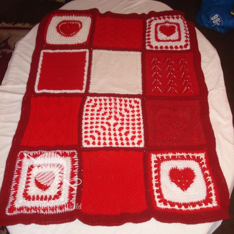 Playa Vista Yarn Crafters Valentine Afghan
