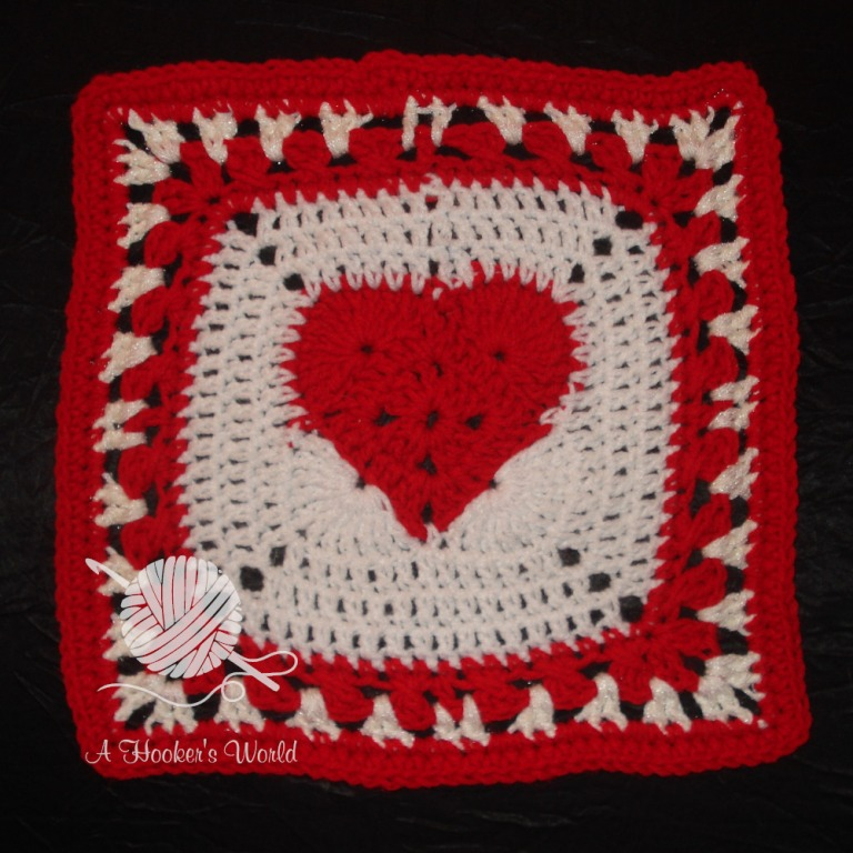 Playa Vista Yarn Crafters Valentine Afghan Square 04