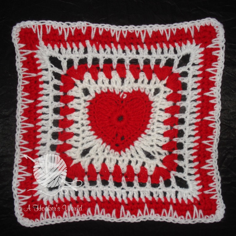Playa Vista Yarn Crafters Valentine Afghan Square 03