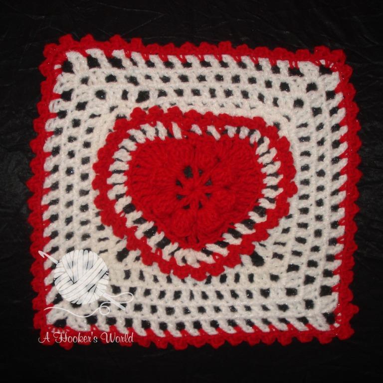Playa Vista Yarn Crafters Valentine Afghan Square