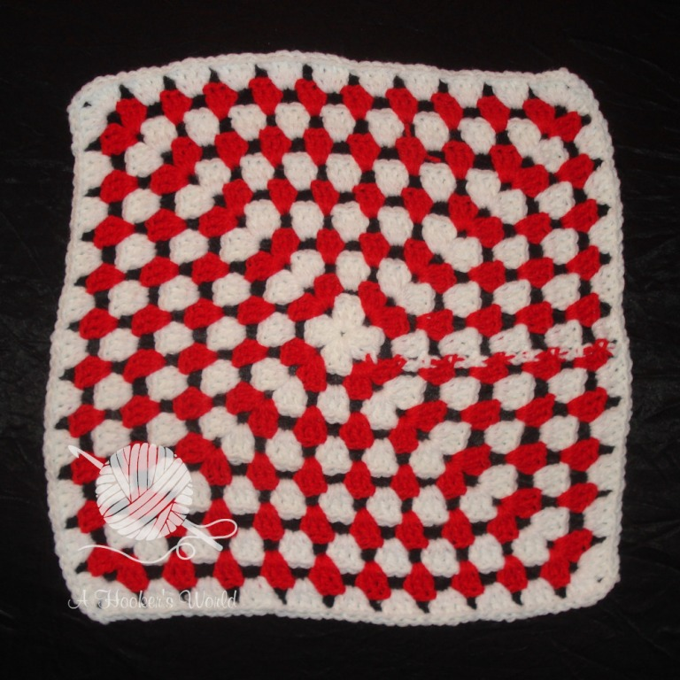 Playa Vista Yarn Crafters Valentine Afghan Square 5